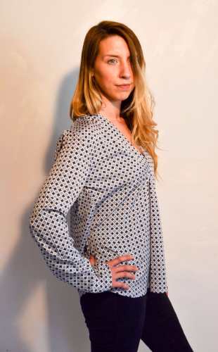 Mia Blouse Blue Diamond WAS £68 NOW 50% OFF